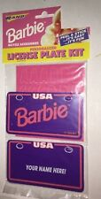 Rare Vintage 1993 Barbie Mattel Personalized License Plate Kit See Description