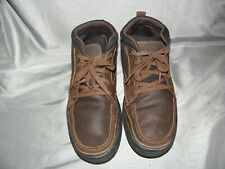 Skechers  Men's Ankle Boots Brown Oiled suede  SZ 13  EUC