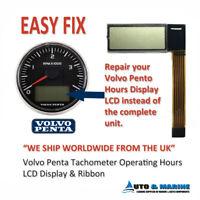 Volvo Penta Marine Tachometer Hour Meter LCD Display & ribbon ..NEW..