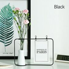 Creative Metal Flower Stand Arts Photo Frame Hydroponic Plants Vase Modern Decor