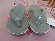 Crocs Crocband Light Grey relaxed fit Flip-Flop Sandals Kids US Size 12 UK 12 NW