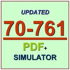 Latest 70-761 Verified Practice Test 761 Exam QA PDF+Simulator