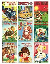 9 Vintage Children's StoryBook Covers Hang Tags ATC Cards Scrapbooking (202)