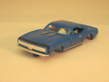 MODEL MOTORING BLUE W/BLACK STRIPE '67 CAMARO RS SHELL ~ NEW ~ FITS AURORA TJET
