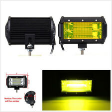 """One Pair 5"""" 72W Yellow LED Universal Autos Off-Road Working Lights Fog Lamps DRL"""