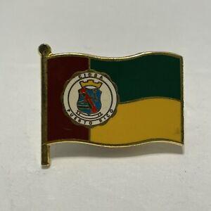 Vintage Cidra Puerto Rico enamel flag tack lapel pin