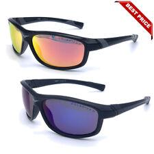 New Men Polarized Sunglasses Sport Mirror Wrap Around Driving Eyewear Glasses Us