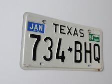 ORIGINAL USA NUMMERSCHILD TEXAS 734 - BHQ US LICENSE PLATE 1984