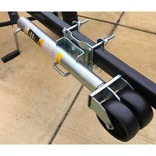 Boat Trailer Jack Utility Tongue Heavy Duty 1500 Lb Swivel Dual Wheel Adjustable