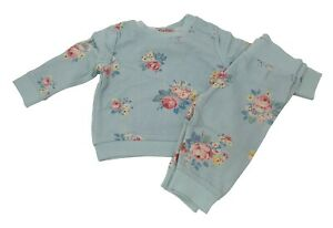 Cath Kidston Girls Briar Rose Tracksuit Jogger Baby Set NEW Cotton 0-2 Years