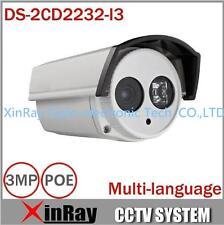 Hikvision DS-2CD2232-I3 3MP Bullet Full HD POE Power CCTV Camera 4mm lens
