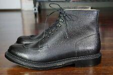NEW | $675 GRENSON 11 12 SPLIT TOE BLACK SCOTCH GRAIN TRIPLE WELT BOOTS ENGLAND
