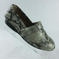 Nurse Mates Rene Black/White Snake Print Slip On Shoes Loafers Womens Size 9.5 W