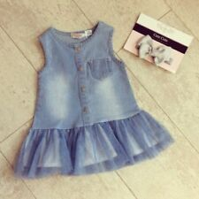 Denim Tutu Party Dresses (0-24 Months) for Girls