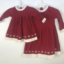 Hanna Andersson Girls Matching Dresses Size 80 110 US 2 5 Sisters Christmas