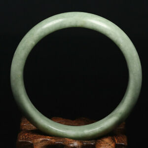 61mm Grade A 100% Natural Green Jade Bangle Bracelet Chinese Guizhou Jade K5293