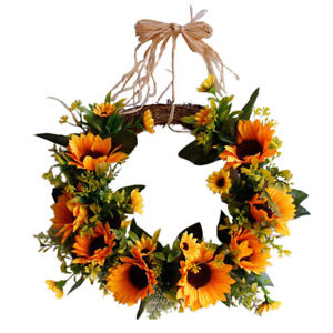 2021 New Artificial Spring Flowers Wreath Garland Front Door or Home Decoration