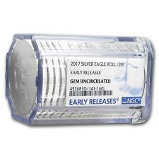 2017 20-Coin Silver Eagle Sealed Tube Gem BU NGC (ER)
