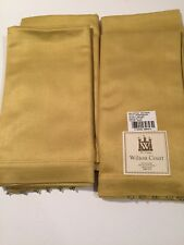 GOLD Sateen Beaded Beads Dinner Napkins 20 X 20 Rayon & Cotton NEW Made in India