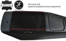 RED STITCHING REAL SUEDE ARMREST LID COVER FOR MAZDA MX5 MK2 1998-2005