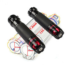 Universal Black CNC Motorcycle 22mm Throttle Hand Grips Gas Lever Plug Turnable