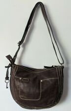 Fossil Brown Pebbled Leather Satchel Shoulder Bag Small Purse