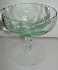 Heisey #3380 Empress Low Sherbet or Champagne Glass 4 oz Moongleam Green