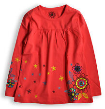 Girls Smock T Shirt New Kids Long Sleeved 100% Cotton Tunic Top Ages 2 - 7 Years