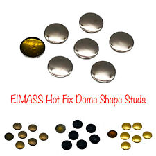 EIMASS® Hot Fix Iron on Round Dome Metal Studs, DIY Embellish Bags Belts Shoes