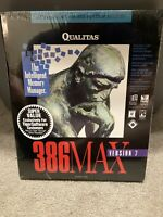 Qualitas 386 Max Version 7 The Intelligent Memory Manager *NEW* Vintage Computer