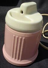 Hankscraft Baby BOTTLE WARMER Vaporizer Vintage Pink and Cream Pottery
