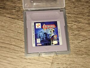 Castlevania Legends w/Case Nintendo Game Boy Cleaned & Tested Authentic