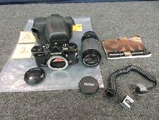 Olympus OM-2n 35MM Film Camera Vivitar Lens 70-210mm 1:4.5-5.5 Macro Zoom