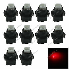10x RED T5 Neo Wedge 1 SMD 5050 LED Car Bulbs HVAC Climate Control Lights N401