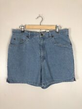 Vintage 90s Bill Blass Light Wash Stretch High Waisted Shorts, Size L/XL
