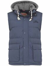 MENS TOKYO LAUNDRY CONTRAST HOODED & QUILTED GILET (AU Stock) - Size: XL