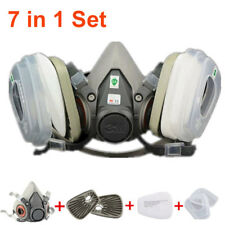 7 in 1 Suit Half Face For 3M 6200 Gas mask Spray Painting Protection Respirator