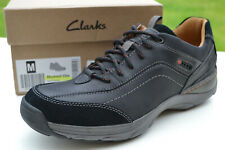 Clarks BNIB Mens Casual Active Air Shoes SKYWARD VIBE Black Nubuck UK 8 / 42