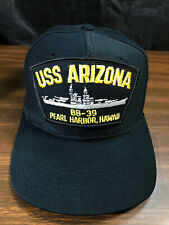 VTG USS ARIZONA BB39 PEARL HARBOR HAWAII HAT BALL CAP VGC
