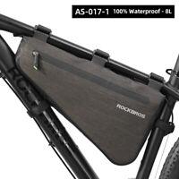 ROCKBROS Cycling Large Triangle Tube Frame Bag Waterproof  BikeTriangle Bag 8L