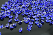 5000 Royal Blue Acrylic Diamond Confetti 1/3ct Wedding Decoration Table Scatter