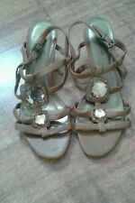 Size 8 Tan Summer sandals with small heels