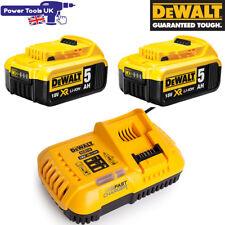 Dewalt DCB118 + 2x DCB184 18V XR Fast Charger + 2x 5Ah XR Batteries