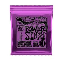 Ernie Ball 2220 Power Slinky Nickel Wound Electric Guitar Strings - .011-.048