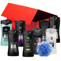 Lynx Hamper Gift Box 8 Men Shower Gel Body Wash Foam Liquid Adults Body Puff