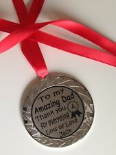 Personalised gift Medal for Dad/Daddy/Papa/Step Dad/ Father Father's Day Gift