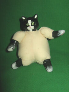 "MINI MUSLIN CAT DOLL   4""   JUST FOR KEEPS  VINYL & CLOTH"