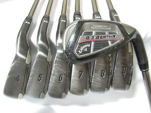 Used RH Callaway Big Bertha OS Iron Set 4-P Senior Flex Graphite Shafts