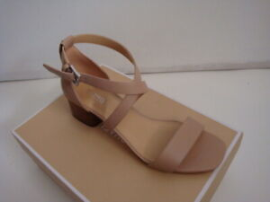 NIB New Women's Michael Kors Diane Block Heel Sandals  Bisque Size 9.5
