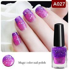 6ml Color Changing Thermal Nail Polish Glitter Peel off Nail Art Varnish A027